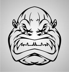 Monkey Face vector image