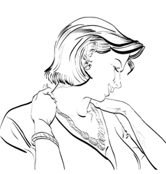 Portrait of a woman vector image