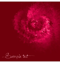 Rose colored ink background vector image vector image
