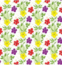 Seamless background with decorative flowers vector image