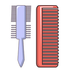 comb brush icon cartoon style vector image vector image