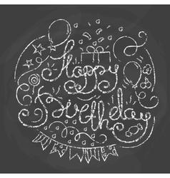 Happy Birthday Typographics Design vector image vector image