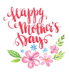 Happy Mothers Day Hand-drawn card vector image