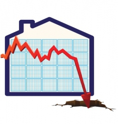 house prices graph vector image vector image