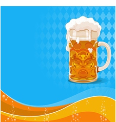 Oktoberfest beer background vector image vector image