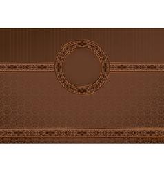 Vintage horizontal card on damask background vector image vector image