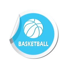 basketball BLUE LABEL vector image