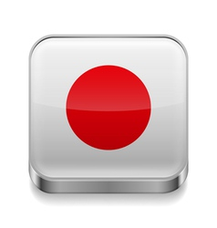 Metal icon of Japan vector image vector image