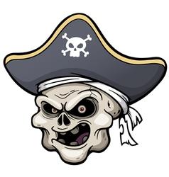 Pirate skull vector image