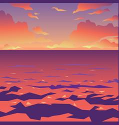 sea or ocean landscape sunset vector image