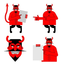 Set satana and devil Daemon in different poses vector image