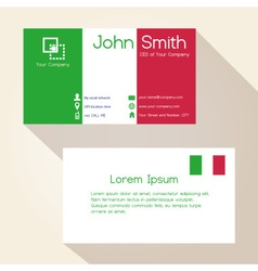 simple ityly colors business card design eps10 vector image