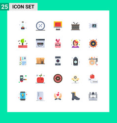 25 user interface flat color pack modern signs vector