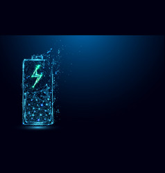 abstract battery charging icon form lines vector image