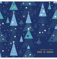 Abstract holiday christmas trees frame corner vector