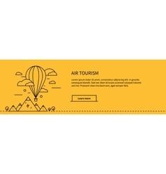 Air Tourism Web Page Design Flat vector image