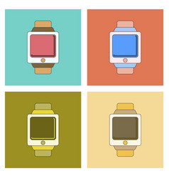 Assembly flat icon digital watch vector