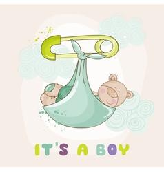 Baby Bear Shower or Arrival Card vector