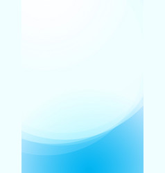 background with wavy abstract form blue vector image