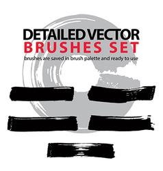 Brush strokes palette set of black hand-drawn vector