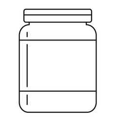 Butter jar icon outline style vector