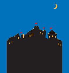 Castle design vector