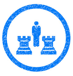 chess strategy rounded grainy icon vector image