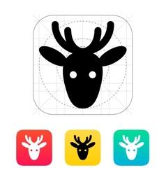 Christmas deer icon vector image