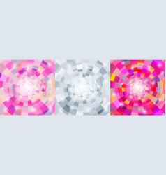 circular geometric colorful background set vector image