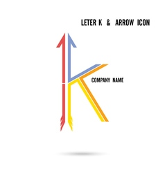 Creative letter K icon logo design vector image