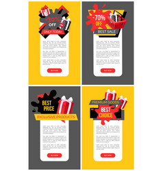 Discounts reduction half price off web sites vector