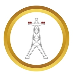 Electric pole icon vector