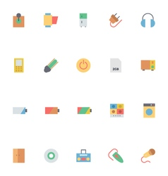 Electronics Colored Icons 5 vector image