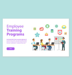 employee training programs website workteam vector image