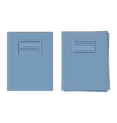 Exercise books vector