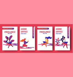 Freelance free time home office more money vector