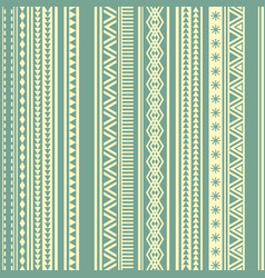 geometric seamless pattern green and yellow vector image
