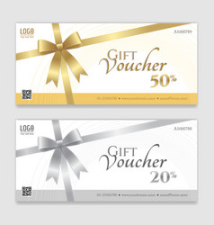 Gift voucher certificate or discount card vector