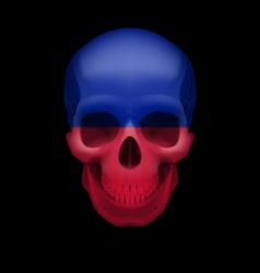 Haitian flag skull vector