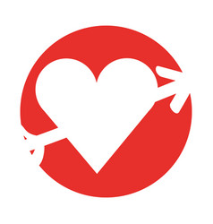 Heart with arrow icon vector