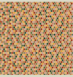 hexagons seamless pattern in autumn palette vector image