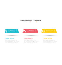 Infographics template design with 3 steps vector