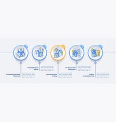 Internship benefits infographic template vector