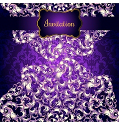 Invitation card with Lacy mandala in the Indian vector