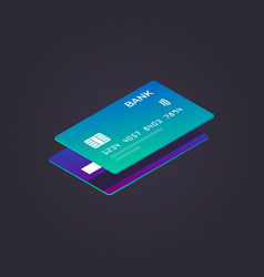 isometric credit card flat vector image
