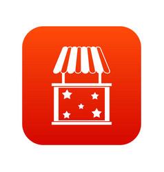 kiosk icon digital red vector image