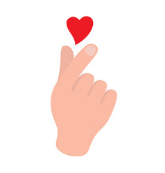 korean symbol hand heart a message love hand vector image