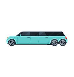 limousine car elegant premium luxurious light vector image