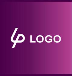 Lp company logo template vector