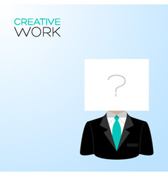 Man with a white sheet vector image